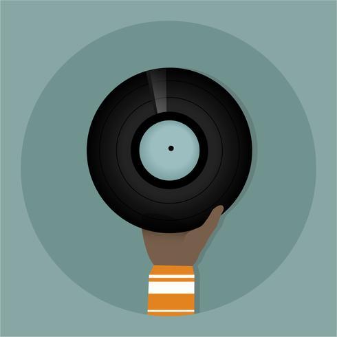 Musikinspelningsvektor