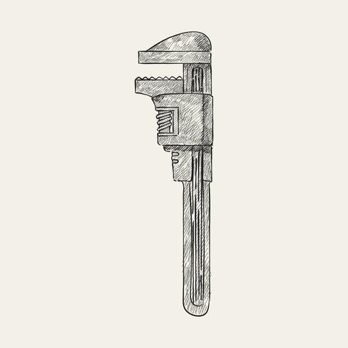 Ilustração Vintage de uma braçadeira f