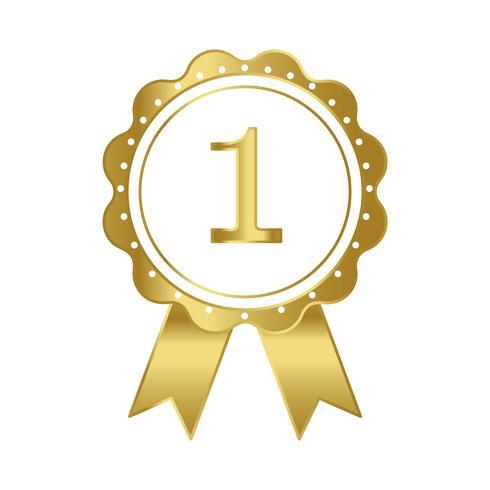 Vettore del premio del nastro del primo premio