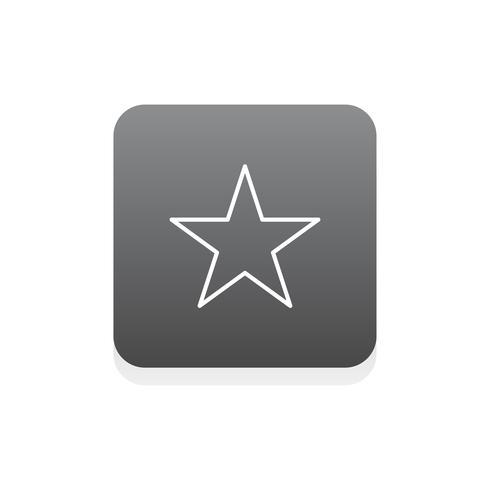 Vettore dell'icona della stella