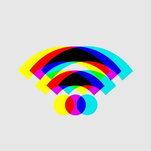 Vettore segnale WiFi