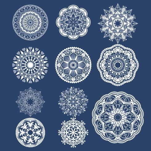 Geometrical mandala badges