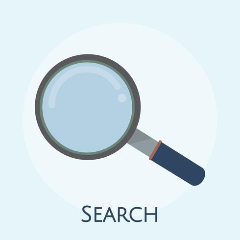 Illustrazione dell'icona della lente d'ingrandimento