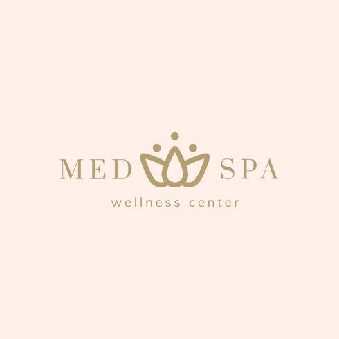 Spa a nd wellness center logo vector