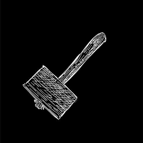 Ilustración vintage de un martillo