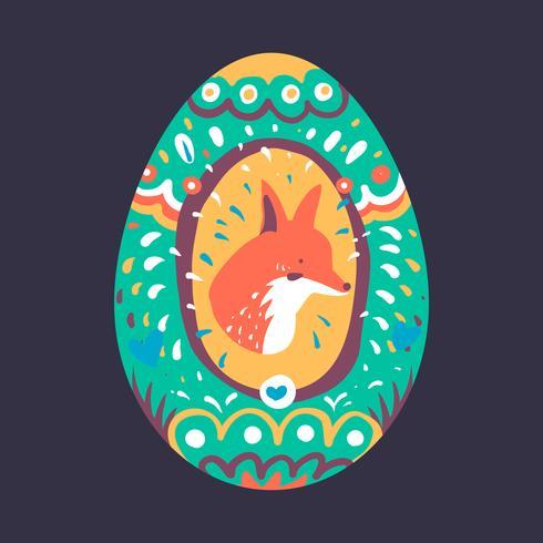 Ilustración de diseño de huevo de Pascua