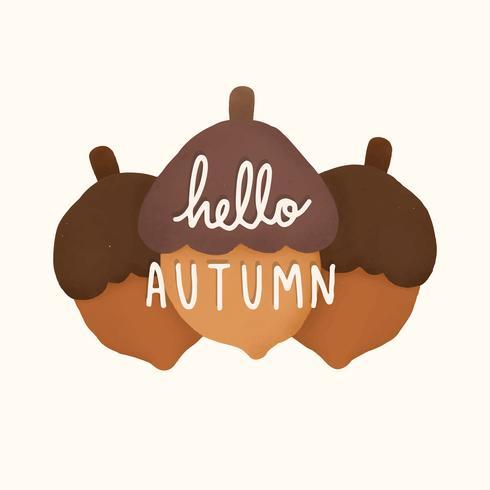 Bonjour automne bienvenue illustration de l'automne