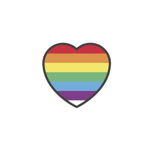 LGBT heart vector