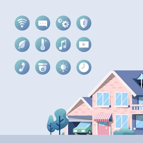 Slimme huis vector pack met pictogrammen