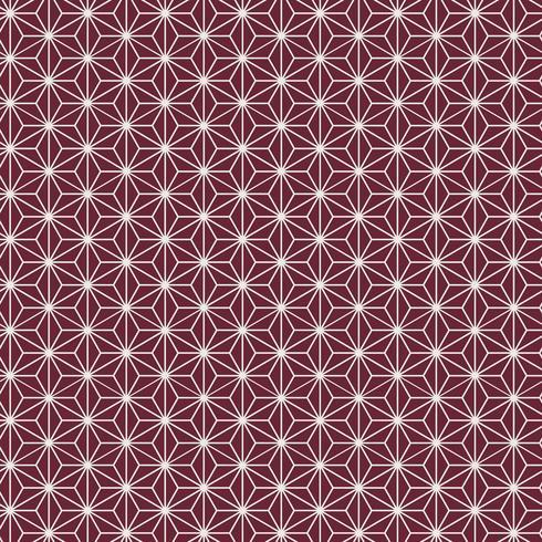 Sem costura padrão japonês com vetor de motivo de folha de cânhamo