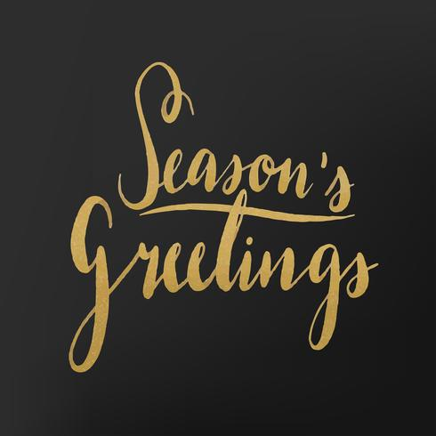 Vetor de tipografia aquarela de Seasons Saudações