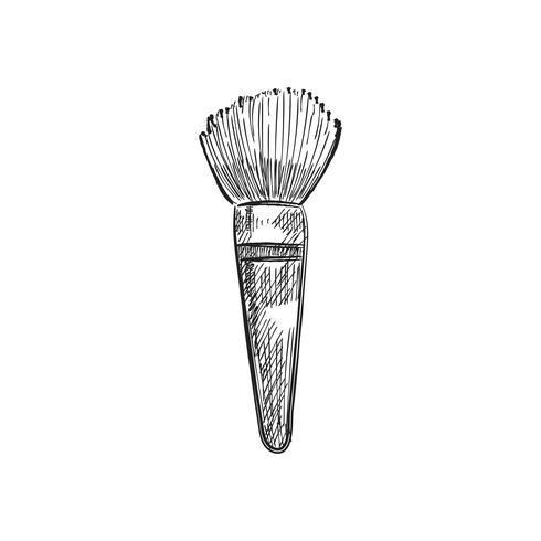 Vintage illustration of a makeup brush