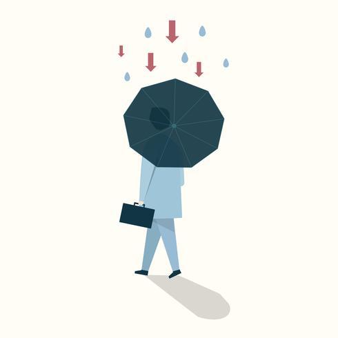 Illustrazione del concetto di sicurezza aziendale