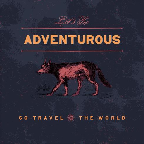 Abenteuerlicher Reiselogo-Designvektor