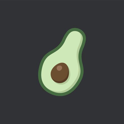 Fresh half avocado food vector