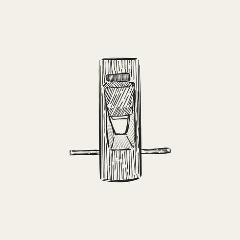 Ilustração vintage de uma ferramenta de carpinteiro