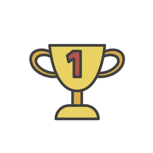 Ilustração, de, troféu, vetorial