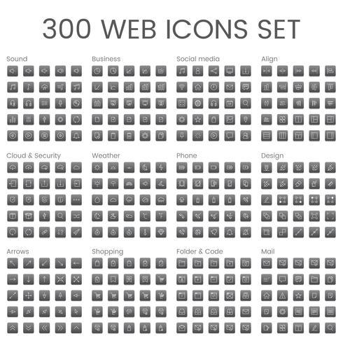 Vector set van website-pictogrammen