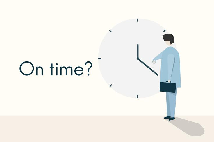 """Illustration du concept """"À l'heure?"""""""