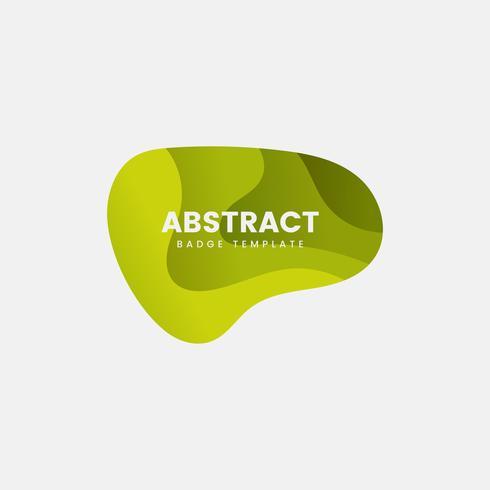 Modelo de distintivo abstrato em verde