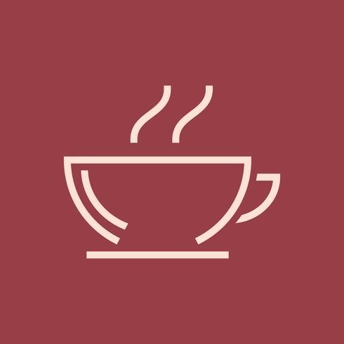 Hot coffee shop icon vector