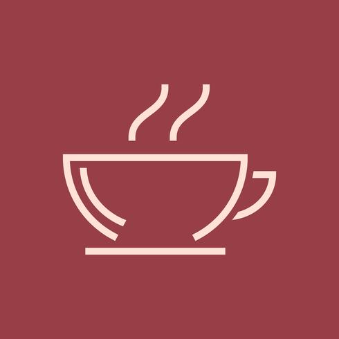 Heißer Kaffeestubenikonenvektor