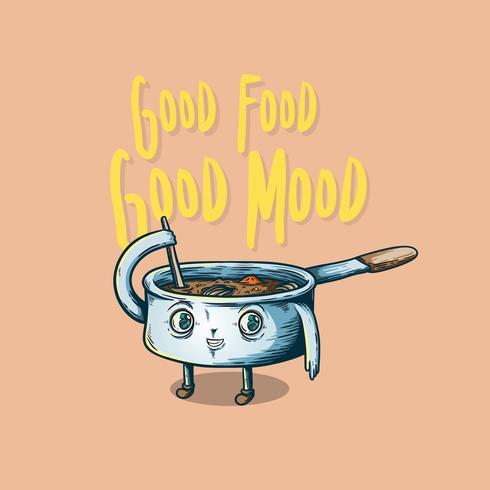 Goed eten goed humeur vector