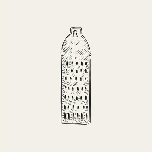 Ilustração Vintage de um ralador
