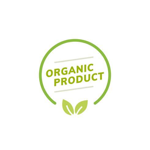 Biologische product badge embleem illustratie