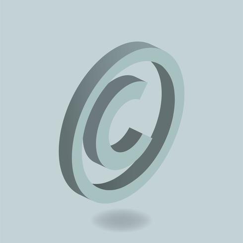 Imagen vectorial del icono de marca registrada.