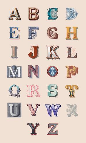 Der Alphabetsatz Großbuchstaben