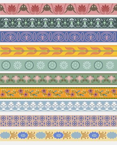 Patrón ornamental de la vendimia