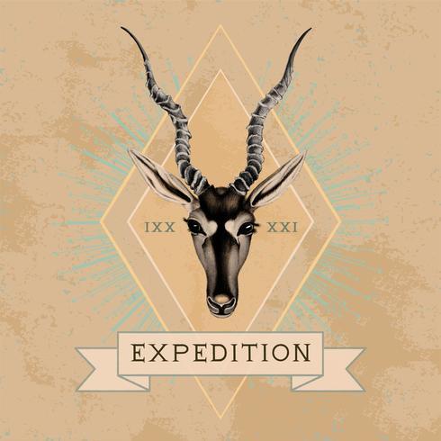 Vetor de design de logotipo de viagem de expedição