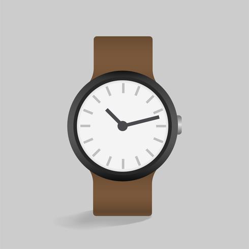 Vetor de ícone de relógio de couro