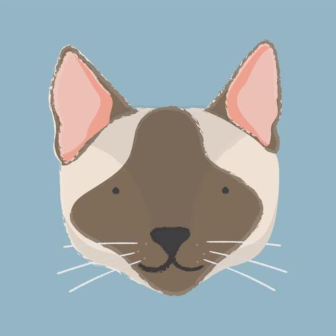 Ilustración de la cabeza de un gato