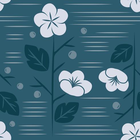 Vector van naadloos Japans stijl bloemenpatroon
