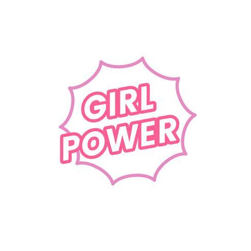 ilustração de distintivo de emblema de poder de menina