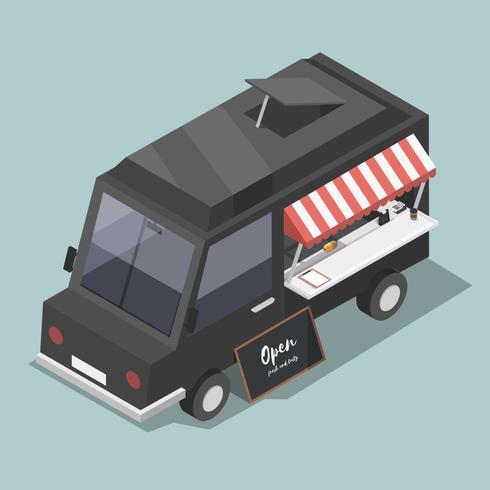 Vector de icono de servicio de camión de comida