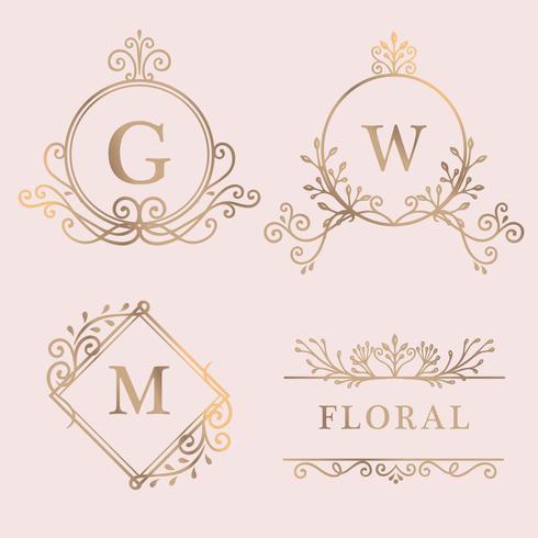Gold framed logo collection