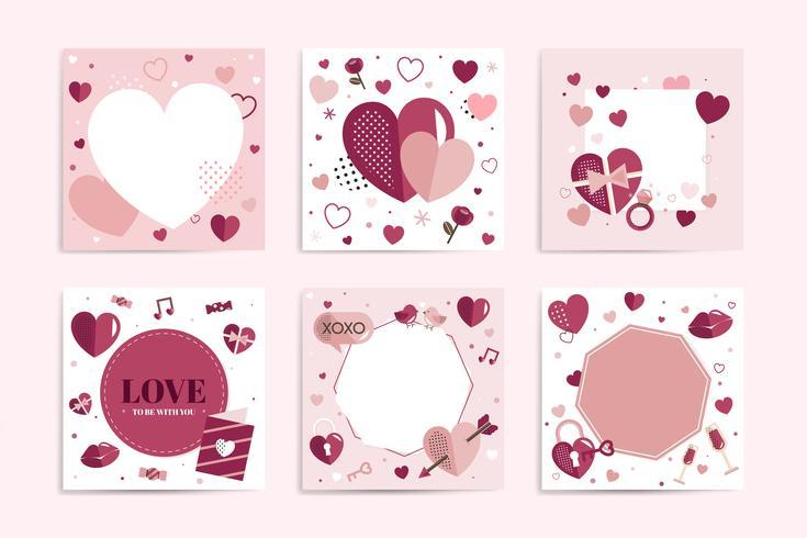 Gráfico del corazón de san valentín