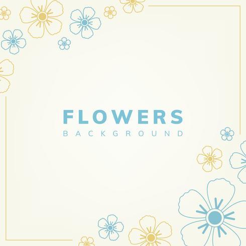 Blauw en geel bloemenpatroon