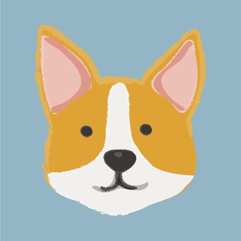 Cute illustration of a corgi dog