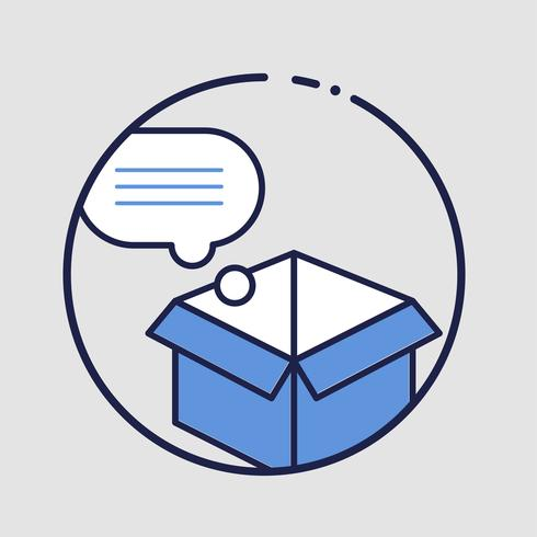 Nachricht in einer Box