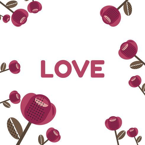 Red rose Valentine's pattern