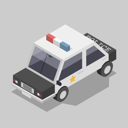 Vector van politie auto pictogram