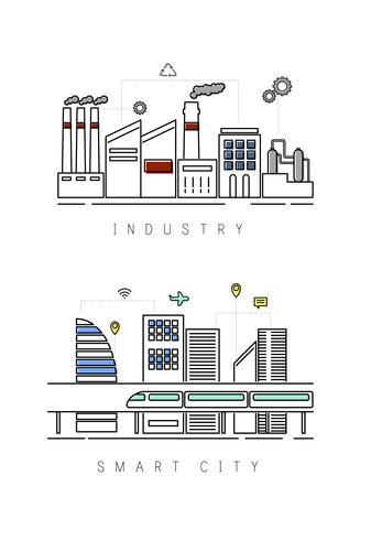 Illustration d'une ville industrielle