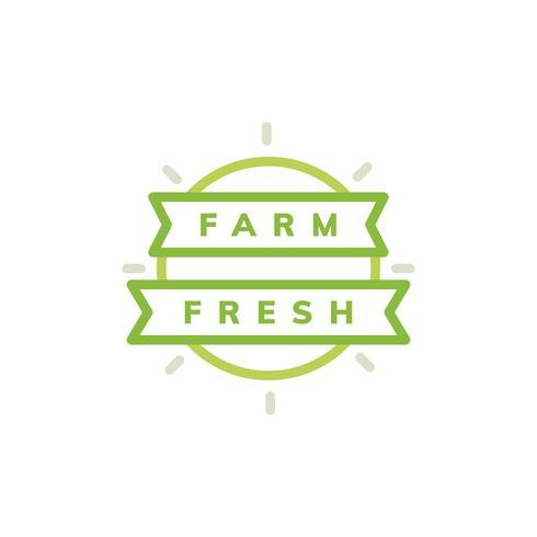 Illustration d'insigne emblème frais de ferme