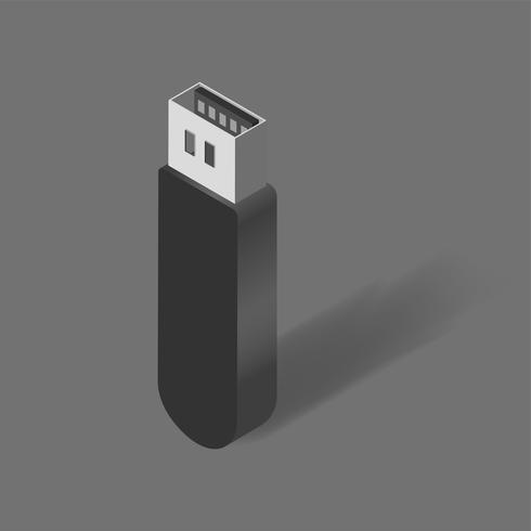 Vector van USB-flashstation pictogram