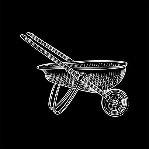 Uitstekende illustratie van een kruiwagen