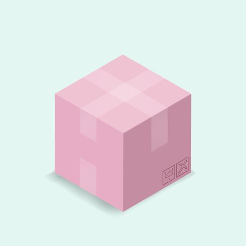 Imagem vetorial de ícone de caixa de parcela
